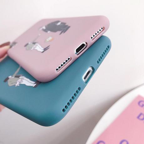 【N269】★ iPhone 6s / 6sPlus / 7 / 7Plus / 8 / 8Plus / X / Xs ★  Leon&Matilda iPhone ケース かわいい