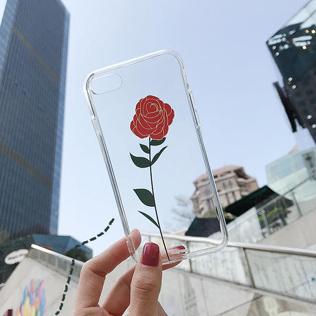 【N188】★ iPhone 6 / 6sPlus / 7 / 7Plus / 8 / 8Plus / X /XS /XR/Xs max★ シェルカバーケース Rose