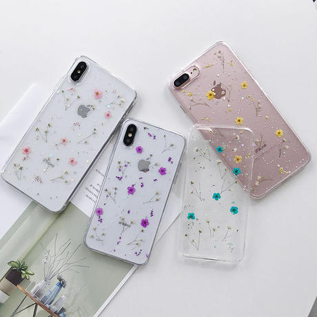 【N217】★ iPhone 6 / 6sPlus / 7 / 7Plus / 8 / 8Plus / X /XS /XR/Xs max★ シェルカバーケース 押し花