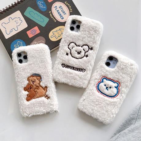【C635】★ iPhone 11/Pro/ProMax/7/7Plus/8/8Plus/X/XS/XR/Xs max★ シェルカバーケース ファー 可愛い
