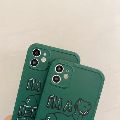 【D213】★ iPhone 13/12pro/12/11/11ProMax /8Plus/X/XS/XR/Xs max★ シェルカバーケース GREEN