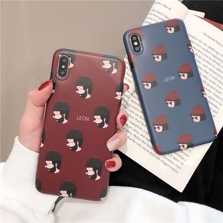 【N183】★ iPhone 6 / 6sPlus / 7 / 7Plus / 8 / 8Plus / X /XS /XR/Xs max★ シェルカバーケース  Couple Leon
