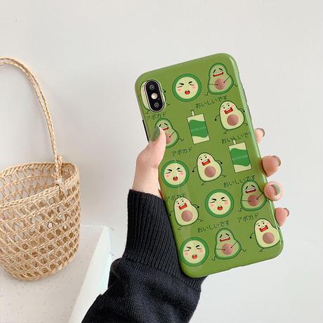 【N524】★iPhone 6 / 6s / 6Plus / 6sPlus / 7 / 7Plus / 8 / 8Plus / X / Xs ★iPhone ケース Green 子