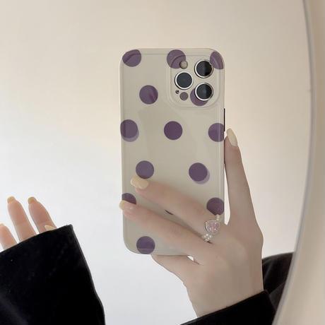 【D152】★ iPhone 13/12/11/Pro/ProMax /8Plus/X/XS/XR/Xs max★ シェルカバーケース 水玉