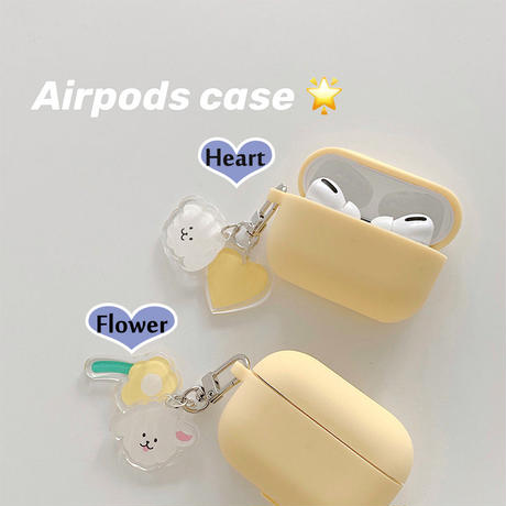 【MS272】♡Acessories♡airpods ケース  Airpods PROカバー Yellow