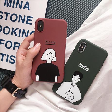 【M868】★ iPhone 6 / 6s / 6Plus / 6sPlus / 7 / 7Plus / 8 / 8Plus / X ★ シェルカバー ケース Nico with Nata