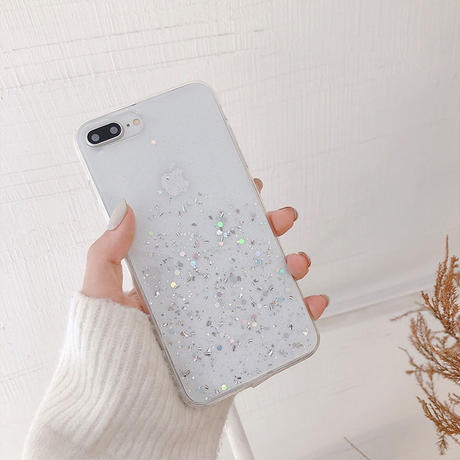 【N131】★ iPhone 6 / 6sPlus / 7 / 7Plus / 8 / 8Plus / X/ XS / Xr /Xsmax ★ シェルカバー ケース Glitter Star
