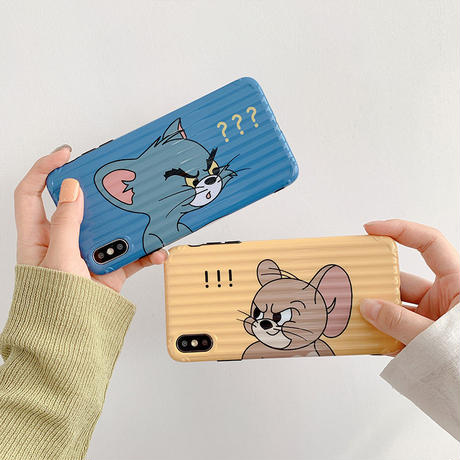 【N702】★ iPhone 6 / 6sPlus / 7 / 7Plus / 8 / 8Plus / X /XS /XR/Xs max★ シェルカバーケース cat or rat