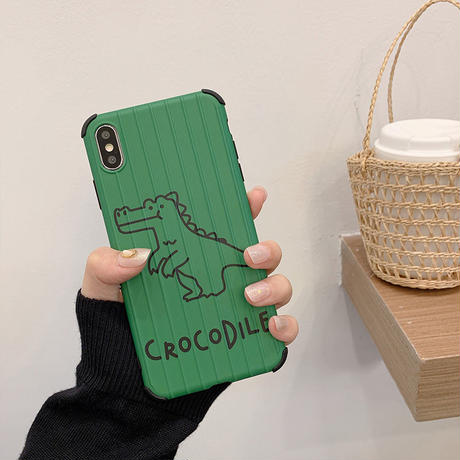 【N622】★iPhone 6 / 6sPlus / 7 / 7Plus / 8 / 8Plus / X / Xs / XR/ Xsmax ★iPhone ケース Crocodile
