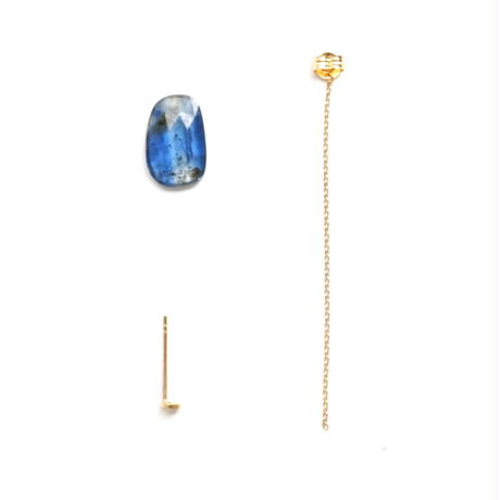 Kyanite Flat Pierced Earring