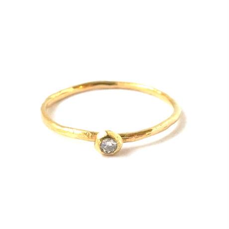 Rough Collet Melee Diamond Ring