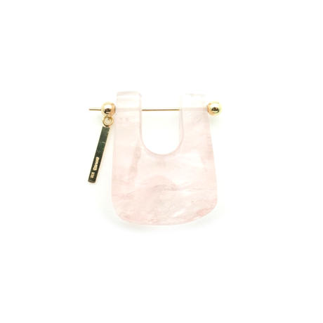 Rose quartz Rock Pierced Earring