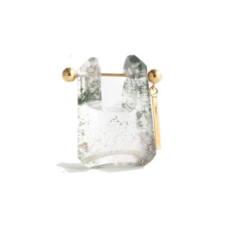 Garden quartz Rock Pierced Earring