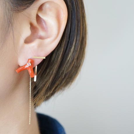 CORAL ピアス
