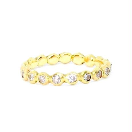 Rough Collet Melee Eternity Ring