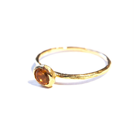 Citrine Rough Collet Ring