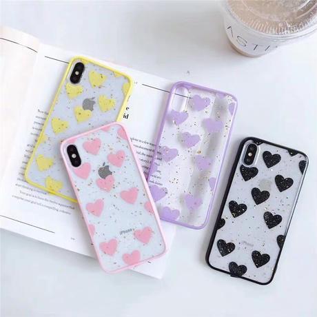 Heart Glitter Clear iPhone case