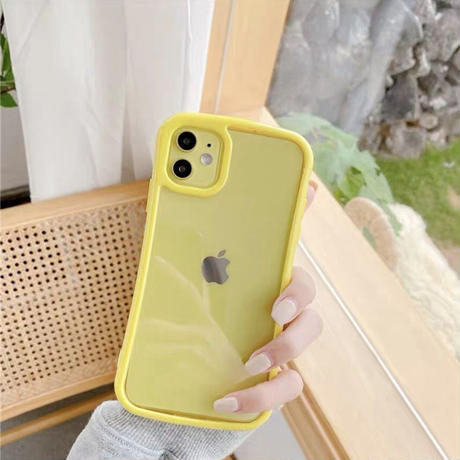 Pastel Color Side Clear iPhone case