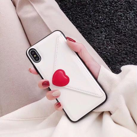 Red Heart Wallet iPhone case