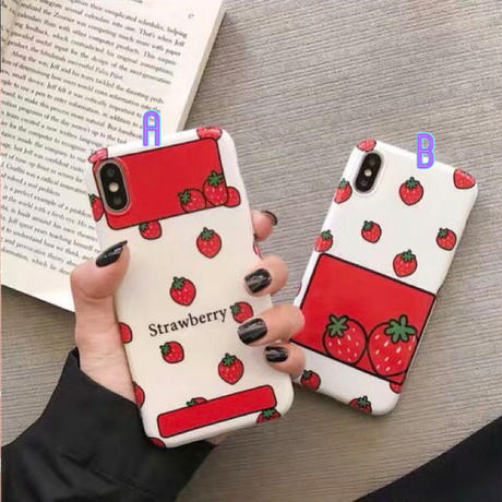 Red White Strawberry iPhone case