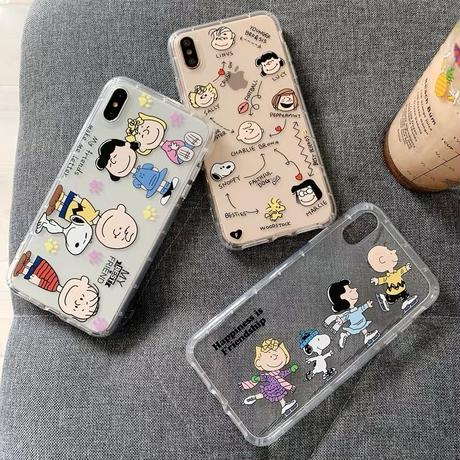 Snoopy and Friends Clear iPhone case
