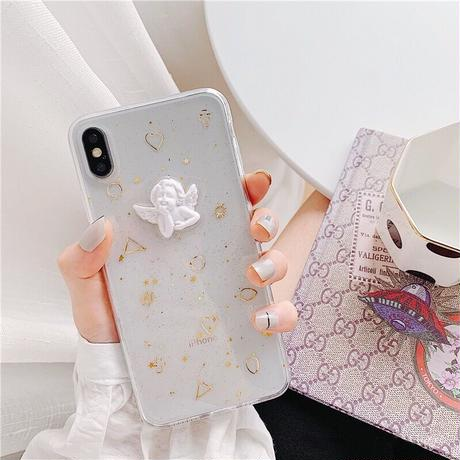 Angel Gold Glitter iPhone case