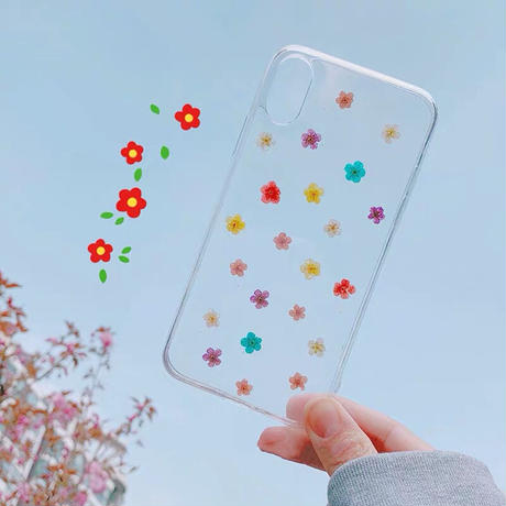 Spring Colors Flower Clear iPhone case