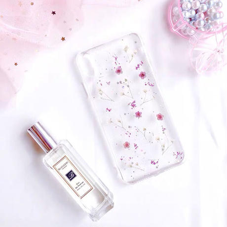 Dry Flower Floret with Gypsophila Clear iPhone case
