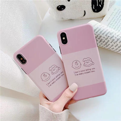 Charlie Sally Brown Pink iPhone case