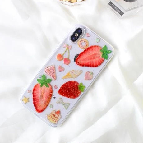 Girly Strawberry Sweets Clear iPhone case