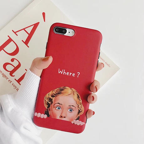 Where? Here!  iPhone case