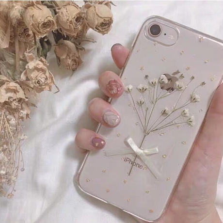 Gypsophila White Bouqute iPhone case
