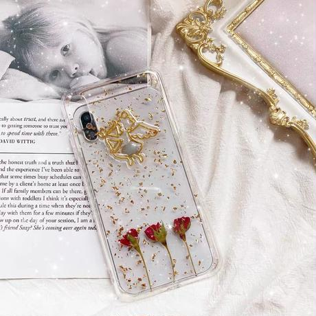 Angel Roses with Glitter Clear iPhone case