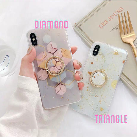 Diamond Triangle with Ring Stand iPhone case