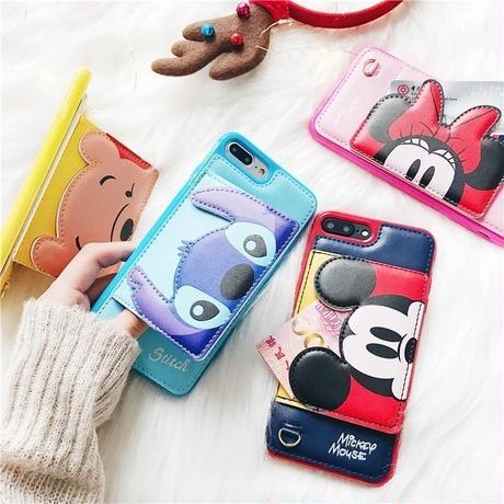 【Disney】Disney Card Case iPhone Case