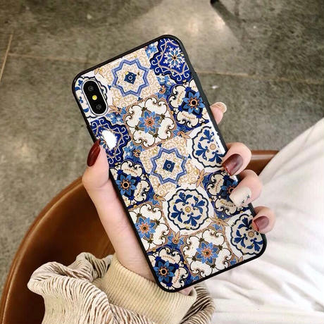 Blue Ethnic iPhone case