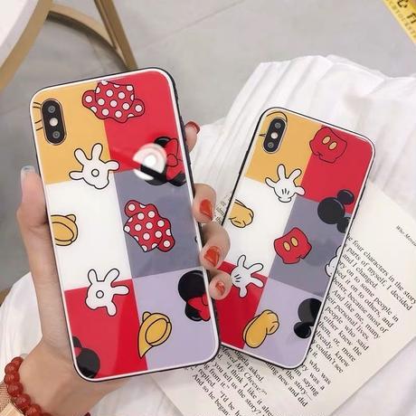【Disney】Mickey and Minnie Block  iPhone case