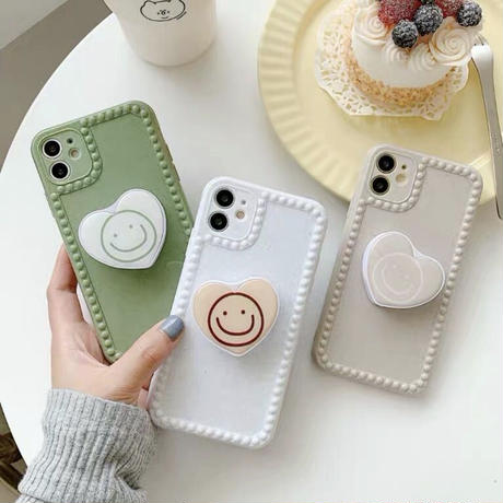 Pastel Color with Heart Grip iPhone case