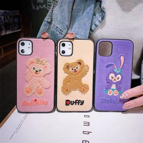 【Disney】Embroidery Duffy and Fridens iPhone case