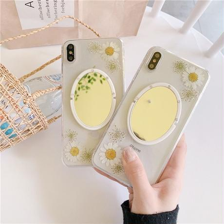 Daisy Mirror Ring iPhone case