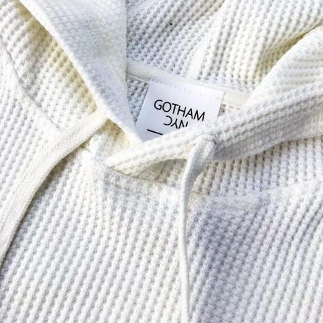 GOTHAM【ゴッサム】ワッフルプルオーバーパーカ  GO-044 WHITE