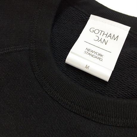 GOTHAM【ゴッサム】裏毛ラグランロンTEE  GO-040 BLACK