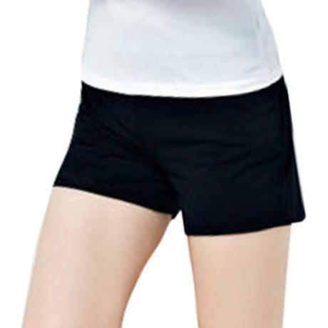 MONFUTUR(モンフチュール) パンツ 履き心地 快適 ウエストゴム スウェット 短パン レディース ブラック