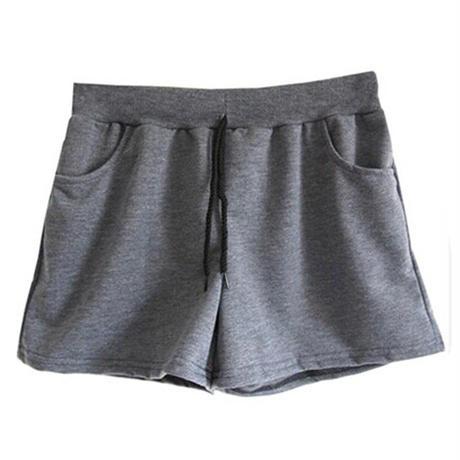 MONFUTUR(モンフチュール) パンツ 履き心地 快適 ウエストゴム スウェット 短パン レディース グレー