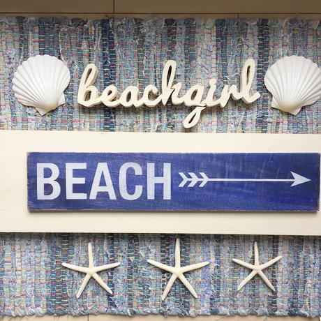 BEACHサインボード  ブルー