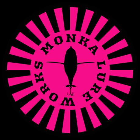 Monka Lure Works ステッカー(ピンクサークル)