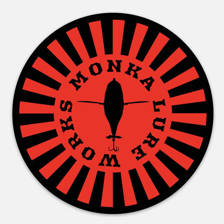 Monka Lure Works ステッカー(レッドサークル)