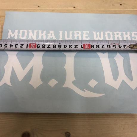 Monka Lure Works カッティングステッカー (ホワイト)