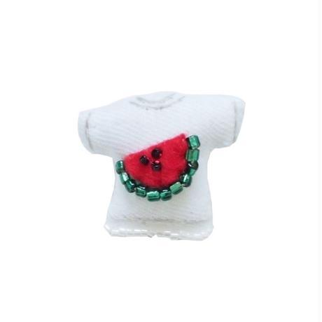Miniature T-shirt Brooch(watermelon)