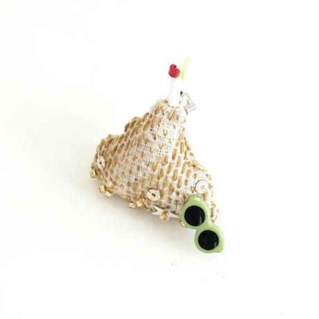 Miniature Sand Castle Brooch